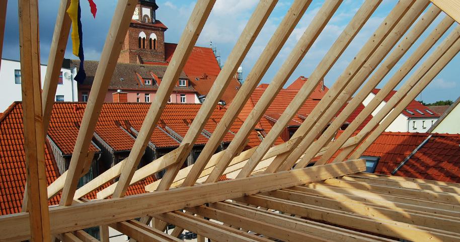 Bau in der Wasserstraße in Waren/Müritz
